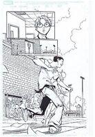 SPIDER-MAN ORIGINAL COMIC ART PAGE PETER PARKER #31 PAGE #7 MARVEL ADVENTURES