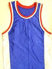 "NOS Vtg '90's Dodger Basketball Jersey Small 38"" Chest Red White & Blue"