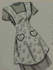 Vintage Bib Apron Full Size Pattern Feedsack Era Large Sewing Project 40s 8027
