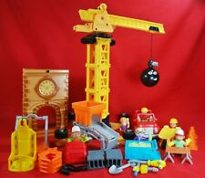 HANDY MANNY Construction Set Crane, Clock Tower & 27 Other Pieces