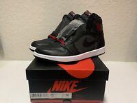 "Nike Air Jordan 1 Retro High Men's  ""Black Satin"" (Size 10) 555088 060 Bred Red"
