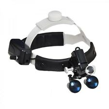 Dental 5W LED Headlight Surgical Medical Head Lamp + 3.5X Binocular Loupes Black