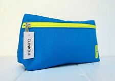 CLINIQUE  Makeup/Cosmetics/Travel Bag - Blue & Yellow  - New With Tag