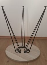 "Triple Set - Classic Hairpin Legs 14"" - 22"" Steel Metal Table Legs black"