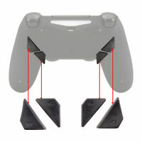 Solid Gray Back Buttons K1 K2 K3 K4 Paddles for PS4 Controller DAWN Remap Kit