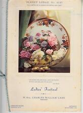 OS035.  Masons. Planet Lodge. No.6147. Ladies Festival, 1953.