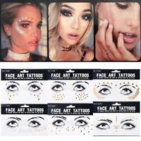 Body Glitter Face Gems Sticker Adhesive Art Tattoo Stickers Waterproof Temporary