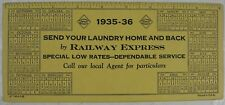 Vintage 1935-36 Railway Express Send Your Laundry Home & Back Ink Blotter
