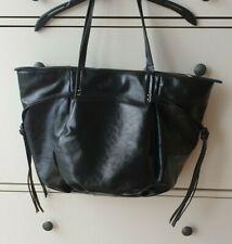 Zara Negro Bolsón Bolso grande efecto roto-Bolso De Mano BNWT