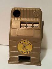 Vintage Metal Jack Pot Las Vegas Nevada Slot Machine Dime Bank 10 Cent ~