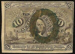 10 CENT FRACTIONAL CURRENCY UNITED STATES NOTE OLD PAPER MONEY
