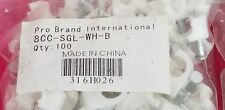 CBL0001 PRO BRAND 8CC-SGL-WH-B CABLE CLIPS 15 Bags of 100 SINGLE NAIL ID 0.2675""