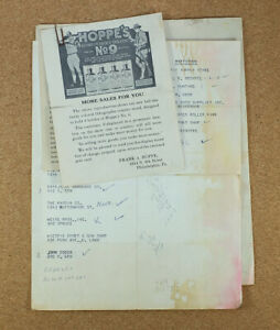Vintage Hoppe's 1930s 1940s Salesman Advertising Literature from Co. Archives