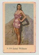 1957 VINTAGE DUTCH GUM S SET ESTHER WILLIAMS CARD #230 VERY GOOD CONDITION
