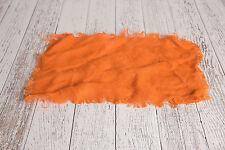Orange Burlap Blanket Photography Prop New