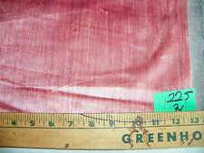 Rose Pink Stria Velvet Upholstery Fabric  1 Yard  R225