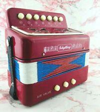 Vintage Schylling Kids Accordion Air Valve Instrument Folk Music With Straps