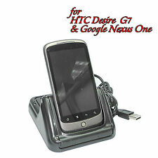 USB Dual Docking Cradle w/2nd Battery Charger for Google Nexus One HTC Desire G7