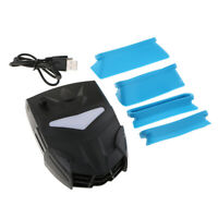 Professional Air Extracting Laptop Cooling Vacuum Fan Quiet Operation Black