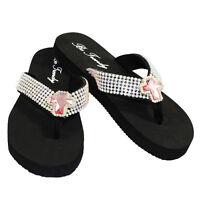 Be Trendy Rhinestone Flip Flop