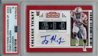 TERRY MCLAURIN CONTENDERS AUTO PSA 9 MINT GRADED ROOKIE CARD OHIO STATE BUCKEYES