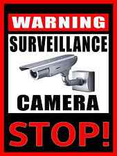 *WARNING SURVEILLANCE CAMERA IN USE STOP!* METAL SIGN USA 8X12 PROTECT PROPERTY