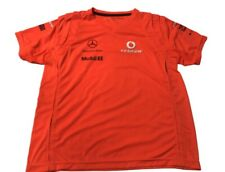 EUC F1 Formula 1 McLaren Mercedes Orange Racing T-Shirt Mens Sz Medium
