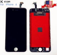 "USA iPhone 6 Black 4.7"" LCD Display Touch Screen + TPU Hard Clear Phone Case"