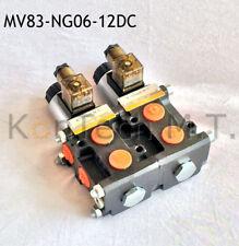 Hydraulik Magnetventil 8/3-Wegeventil NG06 12V DC, Leckölanschluss inkl. Stecker