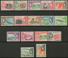 Commonwealth Dominica 1954 QEII part set to $2.40 LMM