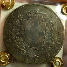 NAPOLI 5 LIRE 1864 SCUDO MOLTO BELLO PERIZIATO