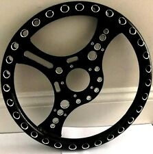 "13.5"" Super Lightweight 12 Gauge Aluminum Powder Coated Steering Wheel  5-Bolt"