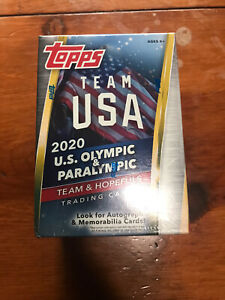 2020 TOPPS Team USA Olympic & Paralympic Blaster Box Sealed.