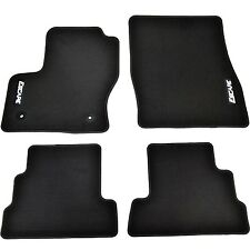 OEM NEW 13-17 Ford Escape Premium BLACK Carpet Floor Mats Embroidered Logo-ALL 4