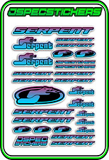 RC STICKERS MODEL CAR SERPENT RACING BRUSHLESS F1 1/10 DRIFT 1/8 BUGGY BLU PUR B