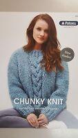 Patons Knitting Pattern #0029 Chunky Knit Sweater to make in Patons Gigante Yarn