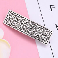 Vintage Style Large Celtic Hair Clip Hand Crafted Metal Barrette for Women