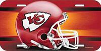 Kansas City Chiefs License Logo Plate Schild 30 cm,NFL Football