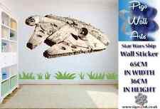 Star Wars Nave Pared Arte Pegatina Decoración para Dormitorio de Niños Grandes