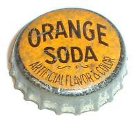 Vintage Orange Soda Cork Lined Soda Pop Bottle Crown Cap Nice!
