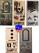 Bundeswehr Dienstgradabzeichen Nato US Blutgruppe Einsatzabzeichen Combat Patch