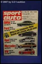 Sport Auto 3/85 BMW M5 Opel Kadett Turbo DB 300 TE