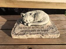 Cat Memorial Verse   Memorial   Garden Ornament   Hand Cast