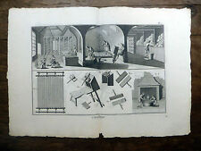 Encyclopédie Diderot D'Alembert Planche in-folio CARDAGE 18e s.