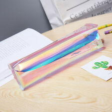 Laser Pencil Case Storage Bag Makeup Transparent Hologram Pouch Metallic Color