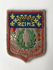 Old Vintage French Souvenir Patch REIMS France