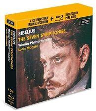 Sibelius / Maazel / Wiener Philharmoniker - Symphonies [New CD] With Blu-Ray, Bo