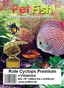 3 kg / 6 X 500g Rote Cyclops + Vitamine Frostfutter