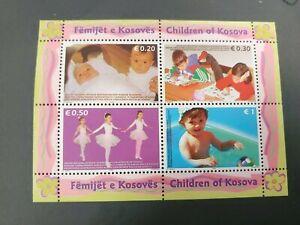 RECENT SHEET CHILDREN VF MNH KOSOVO B977.40 START $0.99