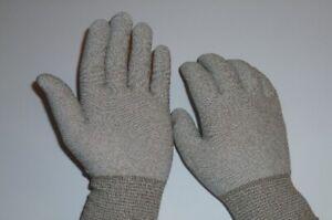 10 Paar Strickhandschuhe für Feinmontage Herrengröße Grau Antistatisch
